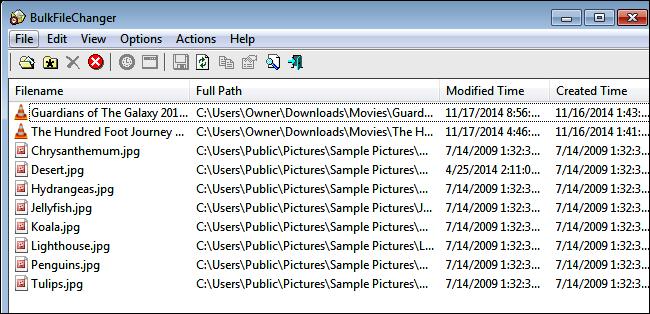 Como cambiar los atributos de creación de los archivos