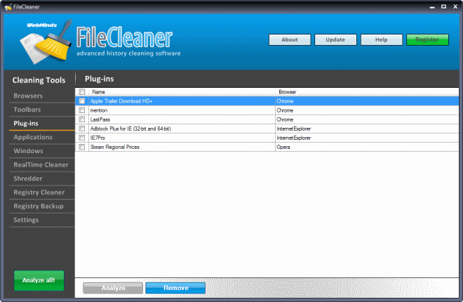 FileClenar alternativa gratuita y eficaz a CCleaner