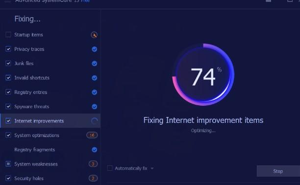IObit Advanced SystemCare - Alternativa a ccleaner