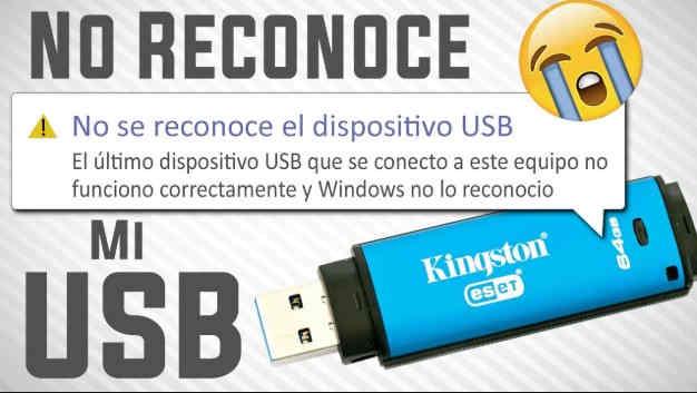 """Solución: """"No se reconoce el dispositivo USB"""""""