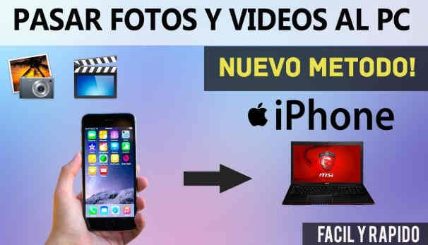 como pasar fotos de iphone a pc