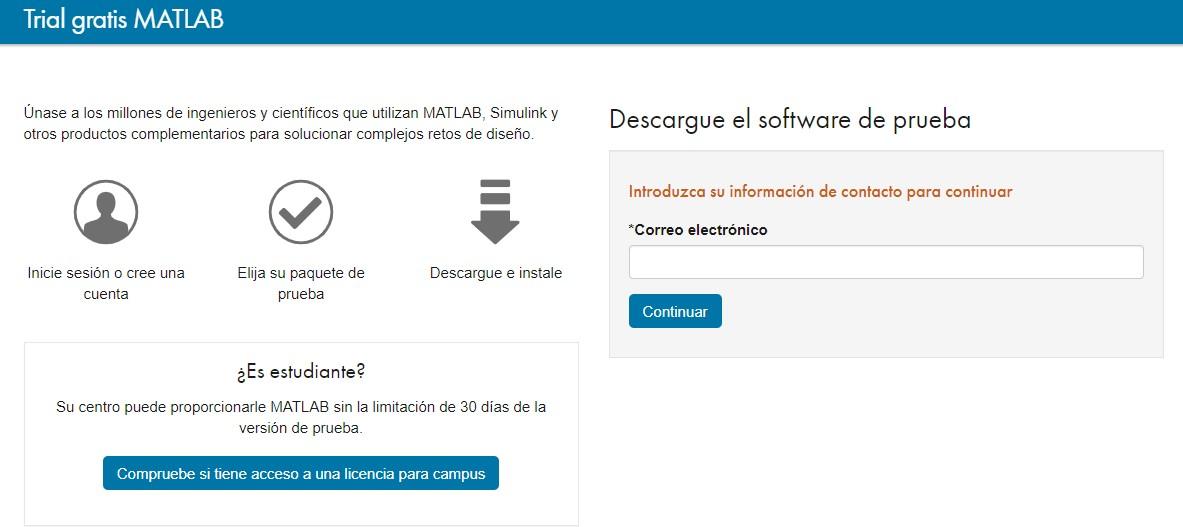 cómo descargar matlab gratuitamente